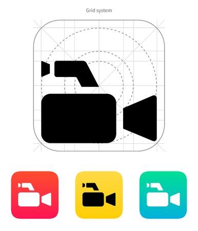 journalistic: Icona della fotocamera giornalistica. Illustrazione di vettore.