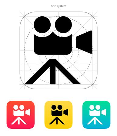 journalistic: Icona della cinepresa. Illustrazione vettoriale. Vettoriali