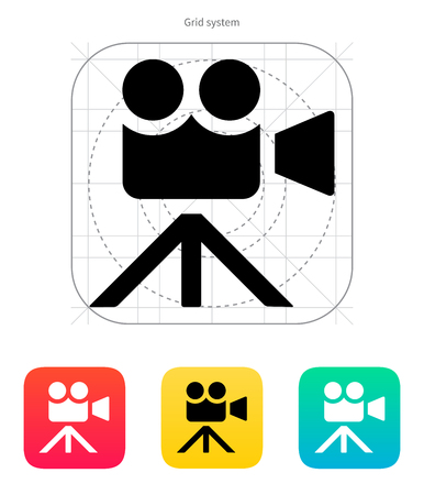 journalistic: Movie camera icon. Vector illustration.