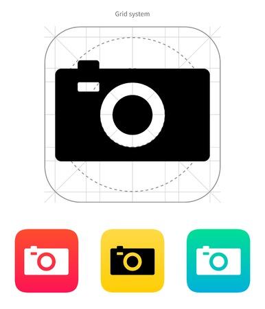 journalistic: Digital camera icon. Vector illustration.