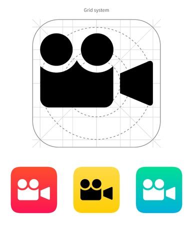 journalistic: icona della fotocamera. Illustrazione di vettore.