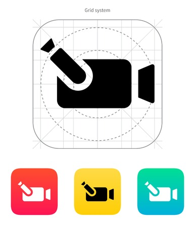 journalistic: Portable camera icon. Vector illustration. Illustration