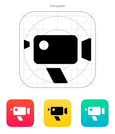 Retro camera icon. Vector illustration. Vector