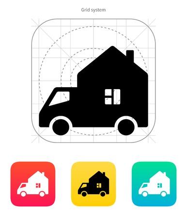 motorhome: Motorhome car icon. Vector illustration. Illustration