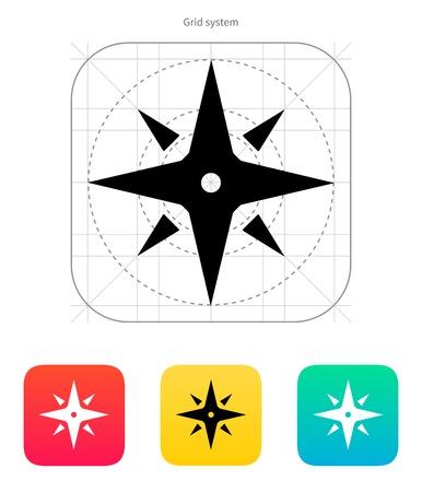 Wind rose icon. Navigation sign. Vector illustration. Stock Vector - 22568583