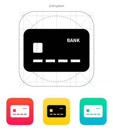 Credit card icon. Vector illustration. Stock Vector - 22568584