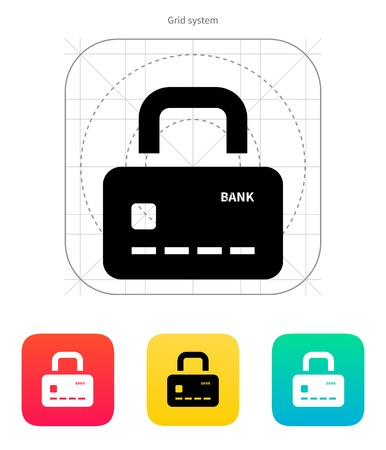 secure payment: Credit card abstract padlock icon. Secure Payment. Vector illustration.