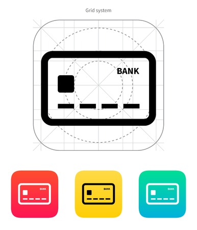 Debit card icon. Vector illustration. Vector