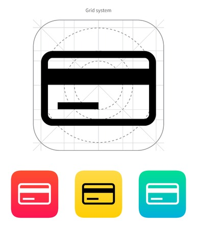cvv: Credit card magnetic tape icon. Vector illustration.