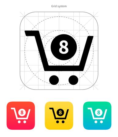 credit cart: Shopping cart icon. Vector illustration.