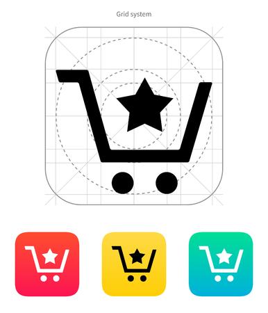 favoritos: Cesta de favoritos icono material. Ilustraci�n del vector.