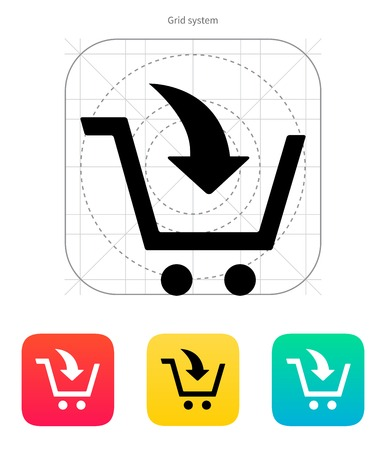 supermarket checkout: Add to shopping cart icon. Vector illustration.