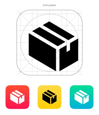 Cardboard box icon. Vector illustration. Vector