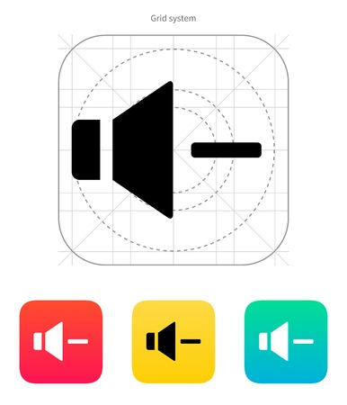 Speaker icon. Volume minus. Vector illustration. Vector