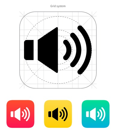 Speaker icon. Volume max. Vector illustration. Vector