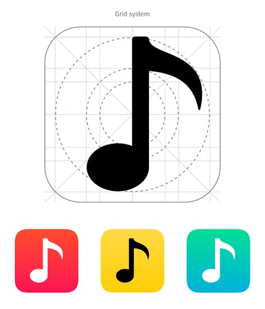 Musical note icon. Vector illustration. Vector