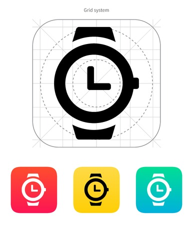 wristwatch: Wristwatch icon. Vector illustration.