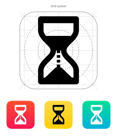 ticking: Hourglass is ticking icon. Vector illustration.