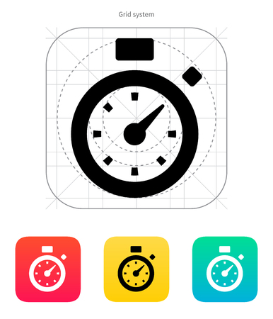 Stopwatch icon. Vector illustration. Vector
