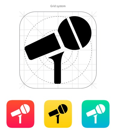Microphone on stand icon. Vector illustration. Vector
