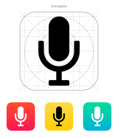 Microphone icon. Vector illustration.