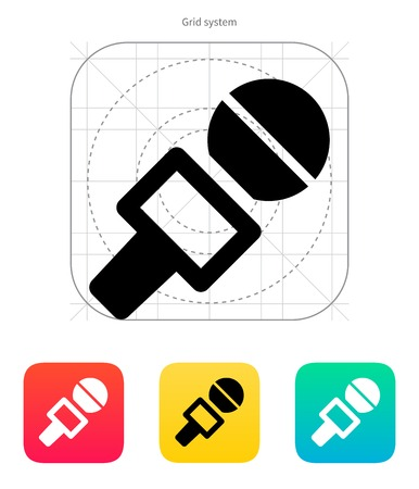 Journalist microphone icon. Vector illustration. Vector