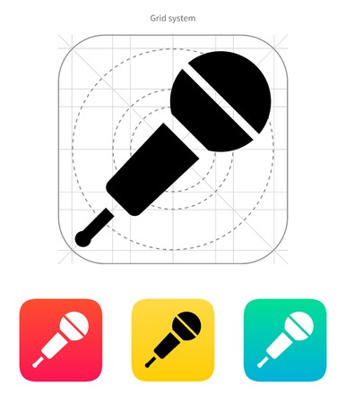 Wireless microphone icon. Vector illustration. Vector