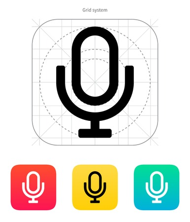 Retro microphone icon. Vector illustration. Vector