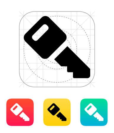 ignition: Car key icon. Vector illustration. Illustration