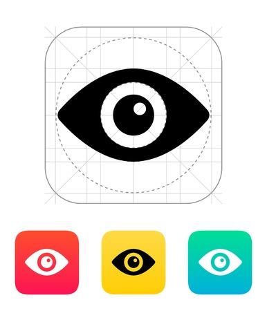 round eyes: Eye icon. Vector illustration.