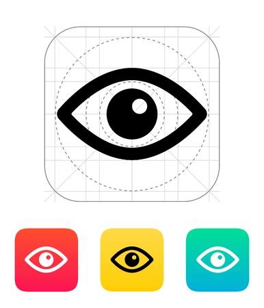Augensymbol. Vektor-Illustration. Illustration