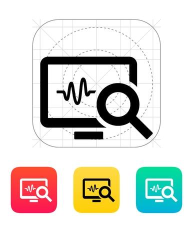 heart monitor: Pulse monitoring icon. Vector illustration. Illustration