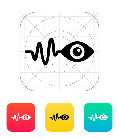 observation: Pulse observation icon. Vector illustration.