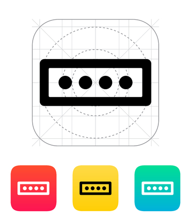 signup: Password form icon. Vector illustration. Illustration