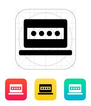 Password in laptop icon. Vector illustration. Stock Vector - 22784645