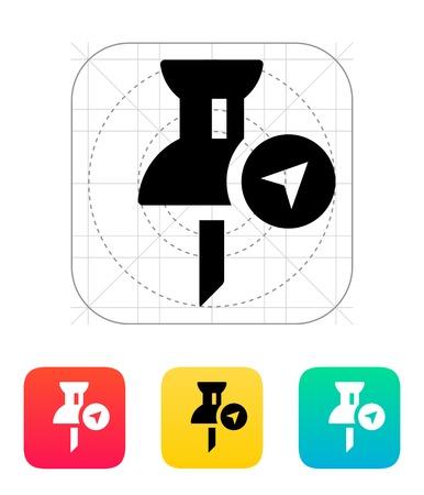 Navigation pin icon. Vector illustration. Vector