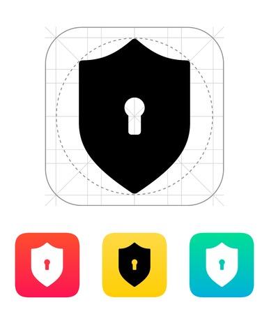 obscure: Proteja icono. Ilustraci�n del vector.