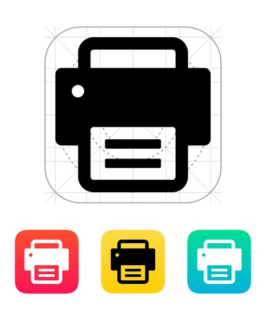 object print: Text print icon. Vector illustration.