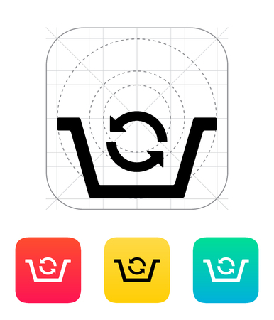 alter: Shopping basket exchange icon. Vector illustration.