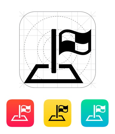 Racing flag icon. Vector illustration. Stock Vector - 22784709
