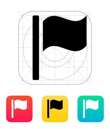 Waving flag icon. Vector illustration. Stock Vector - 22784716