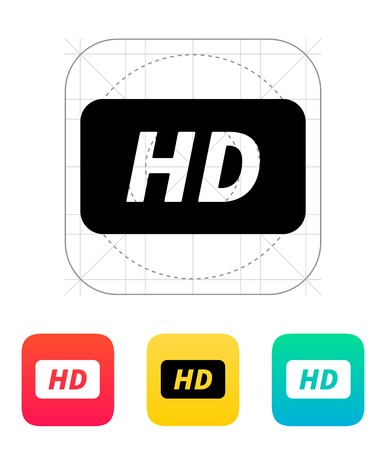 definition: High definition icon. Vector illustration. Illustration