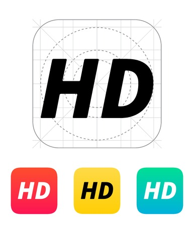 playback: HD quality video icon. Vector illustration.
