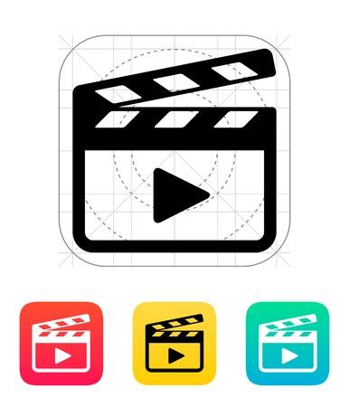 Clapper board icon. Vector illustration. Stock Vector - 22959557