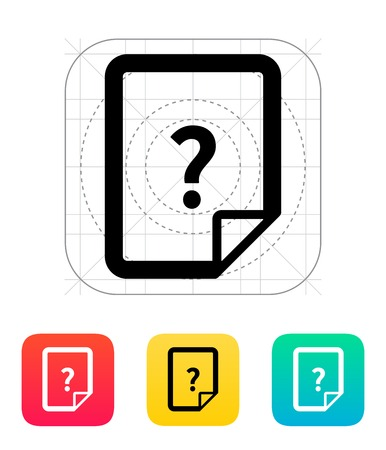 Help and FAQ file icon. Vector illustration. Vector
