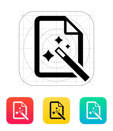 Magic file icon. Vector