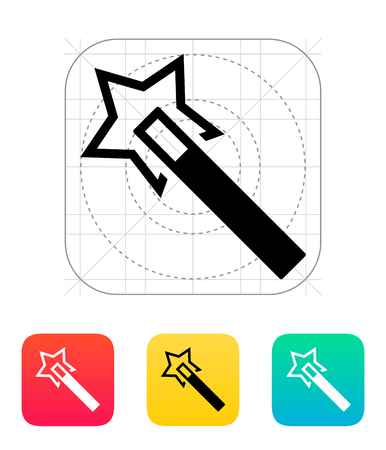 Flash magic wand icon. Vector illustration. Vector