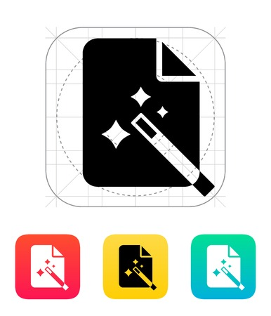 Magic file icon. Vector illustration. Vector