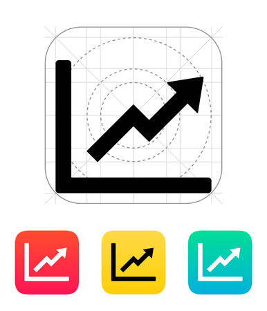Chart up icon. Vector illustration. Vector