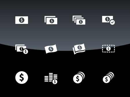 Dollar Banknote icons illustration. Vector